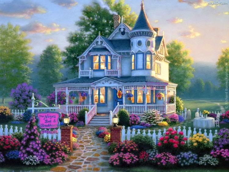 картинка красивый домик красочный