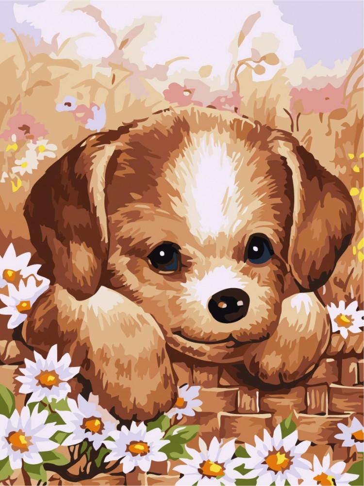 Открытка для детей собака
