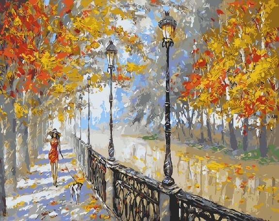 картины по номерам осень в парке