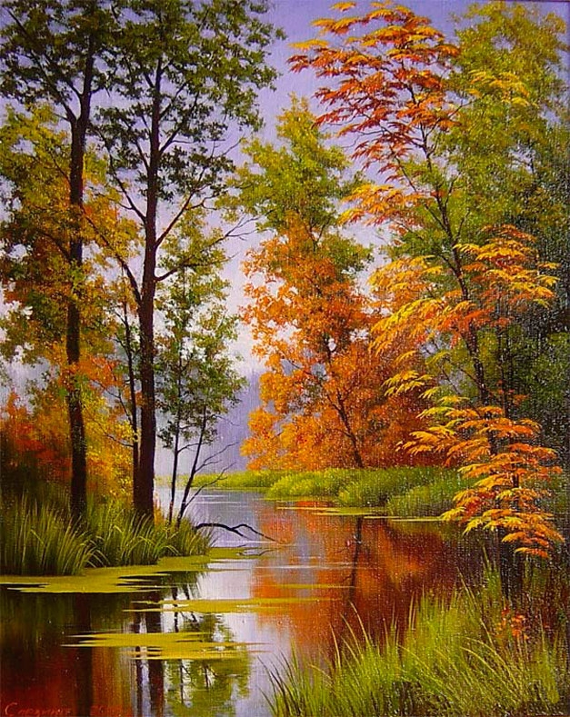 Красивые пейзажи картина